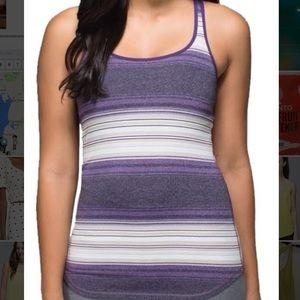 Lululemon Purple Stripe Tank top